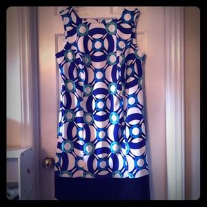 Kim Rogers Blue Patterned Dress